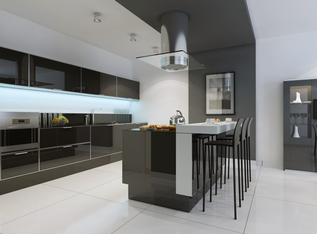 New home with kitchen